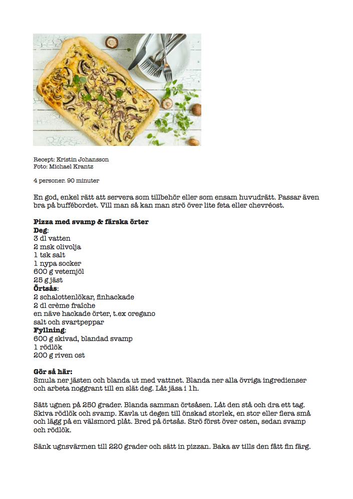 krämig champinjonsoppa recept